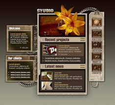 website template 9283 web design studio custom website template