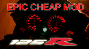cheap honda cbr instrument panel led backlight mod cheap cbr125 youtube