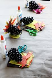 craft pine cone turkeys the country chic cottage