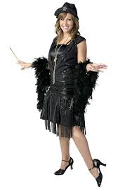 Halloween Costumes Size Size Black Jazz Flapper Costume