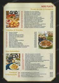 pousse pousse cuisine pousse pousse à ouen l aumone carte menu et photos