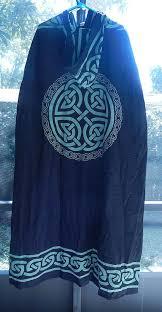 celtic ritual robes celtic knot cloak black and green celtic knot ritual robe