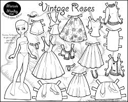 paper dolls coloring pages fablesfromthefriends