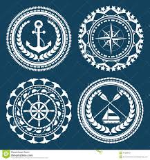 nautical symbols stock vector image 42385042