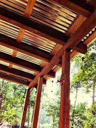How To Build A Covered Pergola by How To Build A Patio Cover With A Corrugated Metal Roof Metal