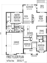 Blueprint For Houses by 3 Bedroom Bungalow House Floor Plans Designs Single Story