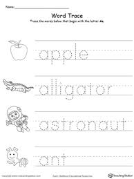 trace words that begin with letter sound a letter sounds