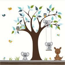 stickers pour chambre bébé garçon bebe chouette murale bleu decoration gara on fille inspiration une