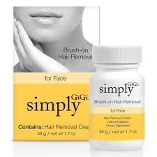 simply gigi brush on hair remover for face 1 7 oz
