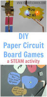 diy paper circuit board games a kids steam activity kids and