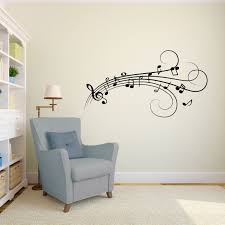 music notes vinyl wall art decal for homes offices kids rooms
