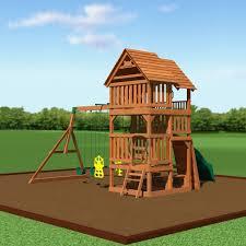 highlander wooden swing set playsets backyard discovery
