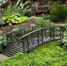 Backyard Bridge Outdoor Garden Bridge Zen 4 Ft Metal Patio Rustic Backyard Walkway