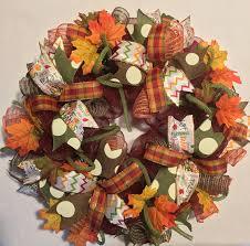 thanksgiving harvest deco mesh wreath fall wreath fall deco