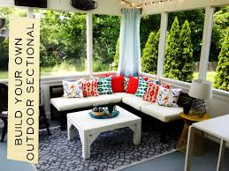 Free Plans For Outdoor Sofa by How To Build An Outdoor Sectional Knock It Off East Coast