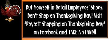 boycott shopping on thanksgiving day home