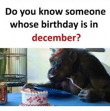 December Birthday Meme - do you know someone whose birthday is in december birthday meme