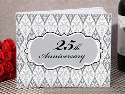 50th anniversary guest book personalized 25th silver wedding anniversary souvenirs from 1 12 hotref