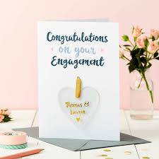 happy engagement card personalised engagement foiled keepsake card by martha brook