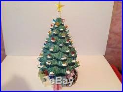 Large Ceramic Christmas Tree Large Vintage Ceramic Christmas Tree Multi Colored Lights Electric