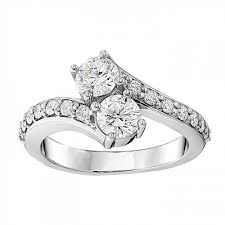 two diamond ring ct two collection diamond ring