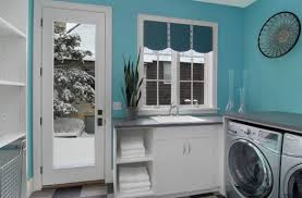 blue laundry room white and blue laundry room with blue trellis