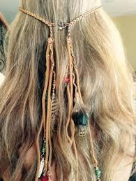 hippie hair accessories boho crochet headband bohemian beaded hippie tassel by selenayy