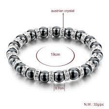 silver bracelet with black stones images Chicvie tibetan silver color black stone strand bracelet for men jpg