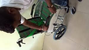 high back reclining wheelchair demo youtube