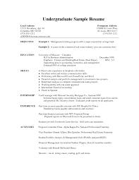 resume template sle 2017 ncaa undergraduate sle resume 3 nardellidesign com