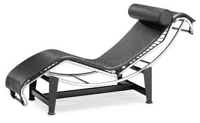 Leather Upholstery Chair Black Or White Leather Upholstery Modern Chaise Lounger