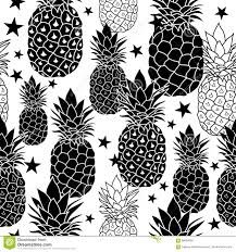balck and white hand drawn pineapples vector repeat geometric