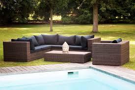 canapé d angle de jardin salon de jardin outdoor york style rotin en résine tressée