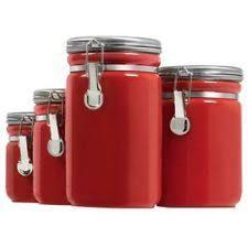 anchor hocking kitchen canister sets ebay