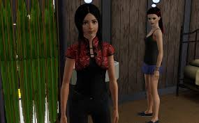 Mod The Sims   Brothel Challenge Ali  in the red shirt  is my Unlucky and Hates Children sim  Then Kelly  with the ponytail is a Klepto and a Mooch