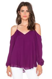 shoulder blouse haute hippie cold shoulder blouse in wineberry revolve