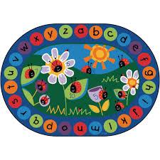 Ladybug Home Decor Kids Educational Rugs Wayfair Toddler Alphabet Blocks Area Rug