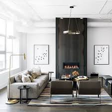 modern living room decorating ideas living room therapy walls corner modern fireplace leather