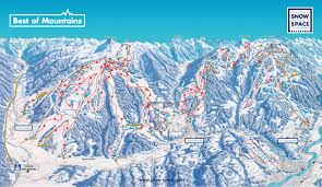 map of ski map of st johann alpendorf ski resort snow space salzburg