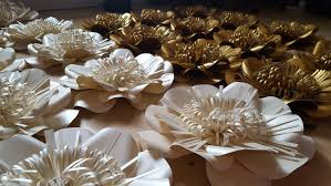 wedding backdrop gold paper flower backdrop and gold wedding
