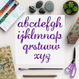 watercolor alphabet png purple letters by north sea studio tpt