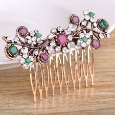 vintage hair combs blucome vintage turkish wedding accessories for bridal rhinestone