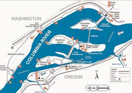 Columbia Zip Code Map by Portland District U003e Locations U003e Columbia River U003e Bonneville Lock U0026 Dam