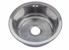Small Single  One Round Bowl Stainless Steel Inset Kitchen Sink - Round sinks kitchen