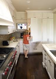 tv in kitchen ideas great place for some media kitchen ideas freezer