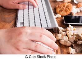 petit d駛euner au bureau petit déjeuner desk ton biscuits desk séché fruits