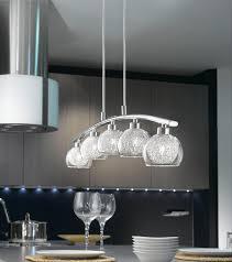 Kitchen Pendant Lighting Uk Oviedo Modern Curved 5 Light Kitchen Pendant Bar Chrome 93054