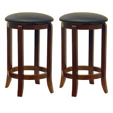 24 Inch Bar Stool Amazon Com Winsome Wood 94624 Faux Leather Swivel Set Bar Stool