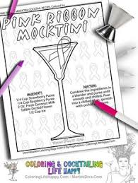 printable shot recipes manhattan cocktail instant download printable coloringpage with