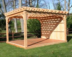Wood Pergola Plans by Red Cedar Free Standing 4 Beam Pergolas 6x6 Posts 2x6 Main